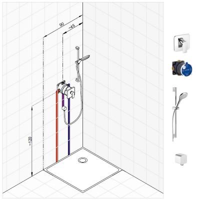 Kludi Pure&Style zestaw prysznicowy nr 1