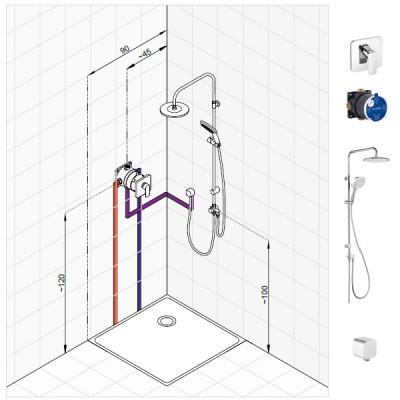 Kludi Pure&Style zestaw prysznicowy nr 2
