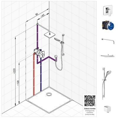 Kludi Pure&Style zestaw prysznicowy nr 3