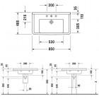 Duravit Starck 3 umywalka 85x48,5 cm