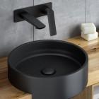 Vedo Desso Black bateria umywalkowa podtynkowa ścienna czarna