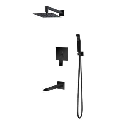 Vedo Sette Black kompletny zestaw wannowy podtynkowy 25 cm czarny VBS7231CZ/25