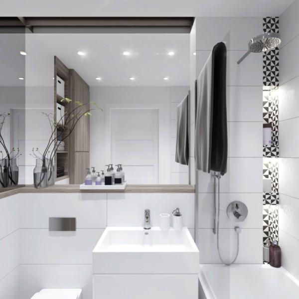 Jak optycznie powiększyć łazienkę o małym metrażu?