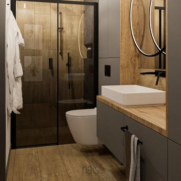 Mała łazienka z kabiną oraz miejscem na pralkę i suszarkę!