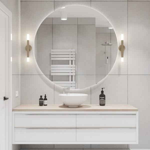 Biała łazienka z wanną wolnostojącą i prysznicem!