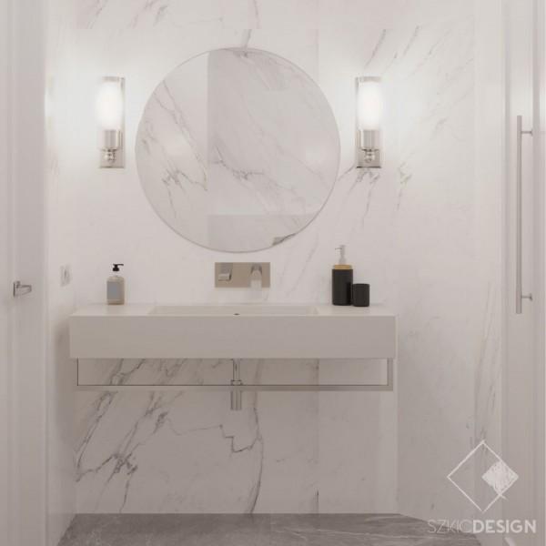Toaleta w białym marmurze