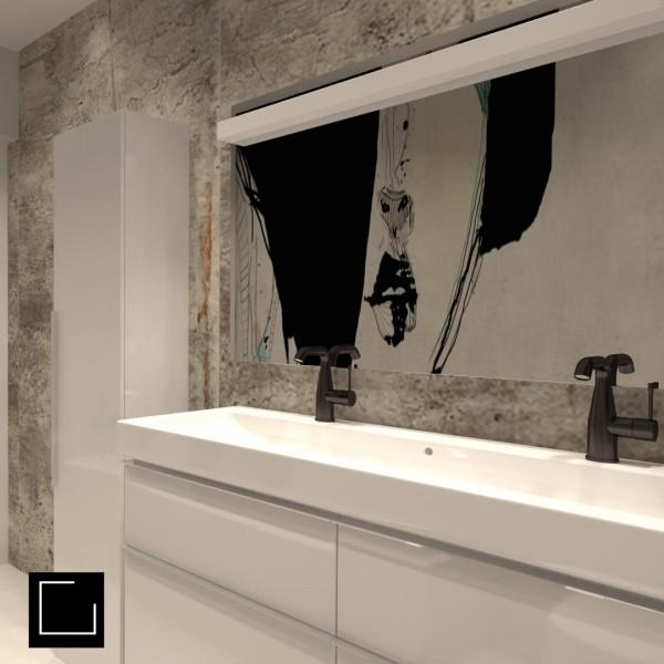 Mała łazienka z oknem i wanną