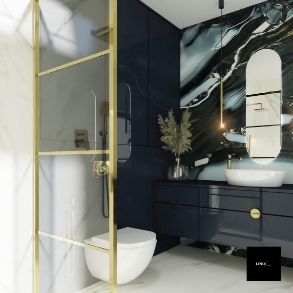 Projekt złotej łazienki z granatem 2!