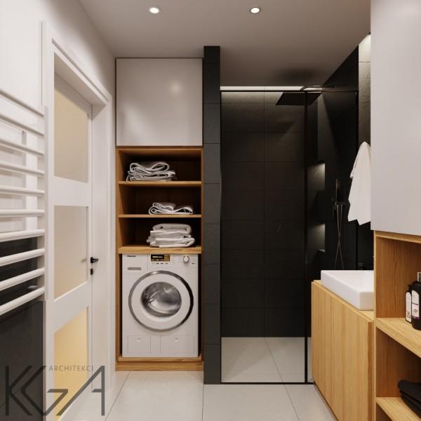 Łazienka w bloku z kabiną prysznicową we wnęce!