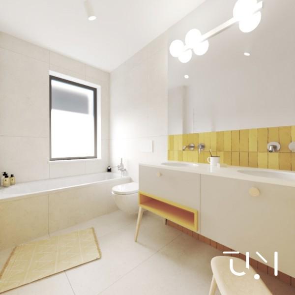Duża łazienka z wanną i oknem!