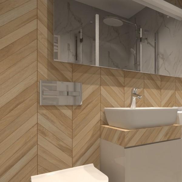 Inspiracje z płytkami drewnopodobnymi Egen Classic Wood Almond!