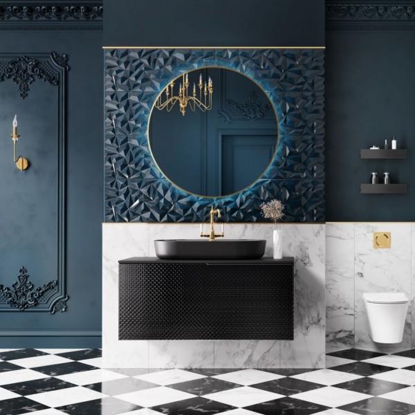 Łazienka w stylu glamour z meblami łazienkowymi Elita Glam!
