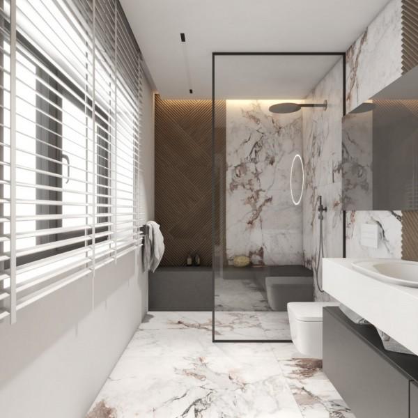 Podłużna łazienka z oknem!