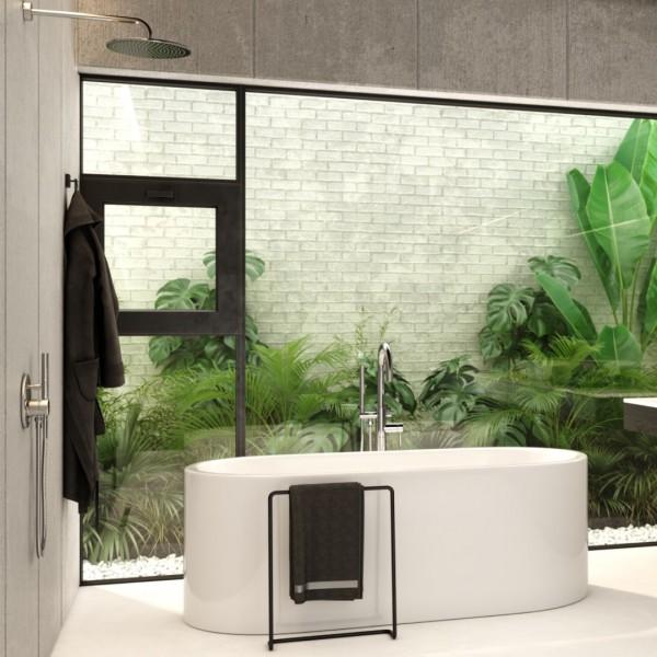 Minimalistyczna łazienka z armaturą Kohlman Roxin!