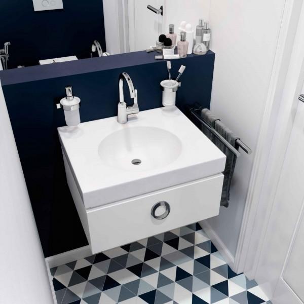 Aranżacja toalety z bateriami łazienkowymi Kludi Bingo Star!