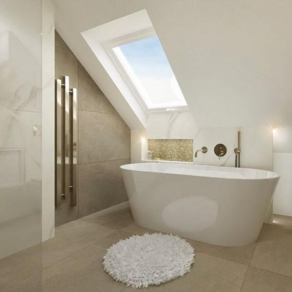 Łazienka na poddaszu w stylu Art Deco!