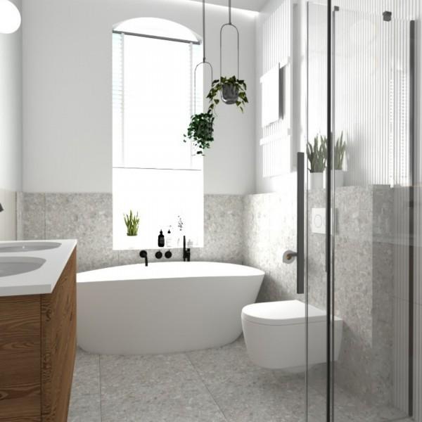 Łazienka w kamienicy z vintagowym akcentem!