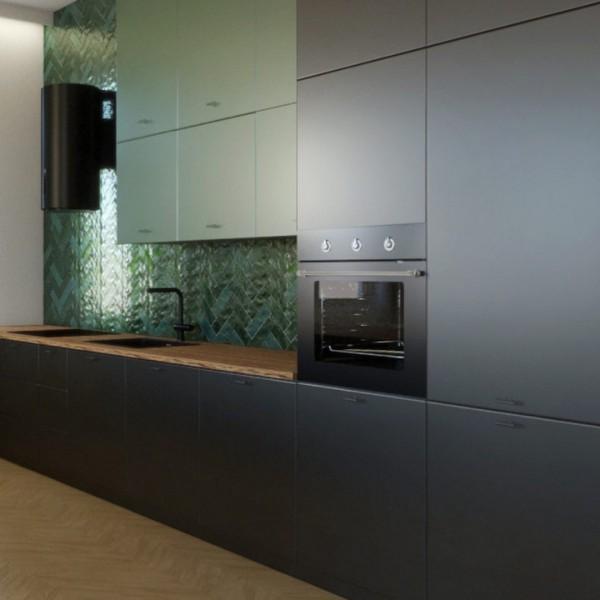 Projekt salonu z kuchnią w kamienicy!