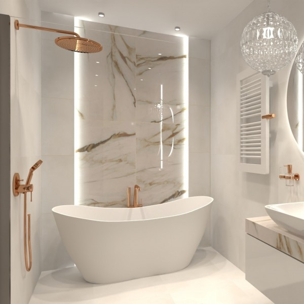 Nowoczesna łazienka w stylu glamour!