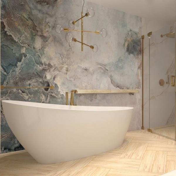 Łazienka z wanną wolnostojącą w stylu glamour!
