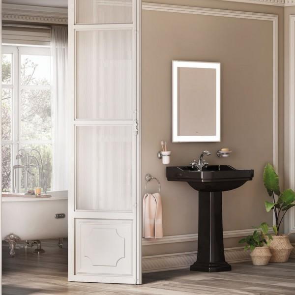 Czarna łazienka w stylu retro!