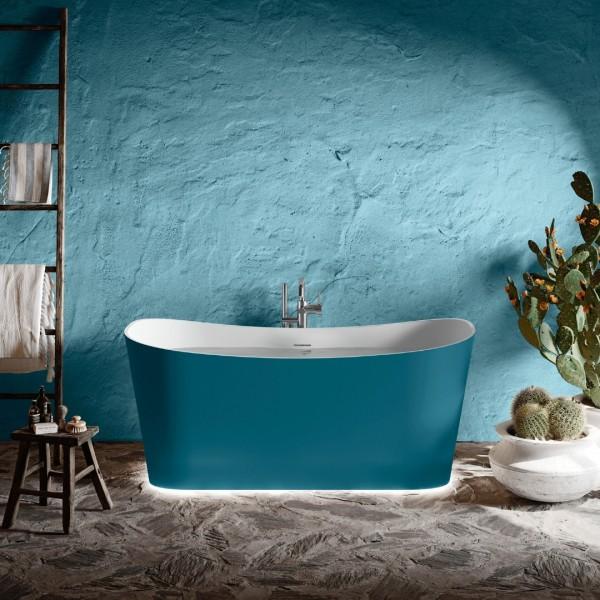 Kolorowa wanna wolnostojąca w łazience - Novellini Ship!