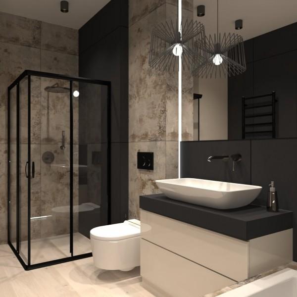 Elegancka łazienka z grafitową armaturą!