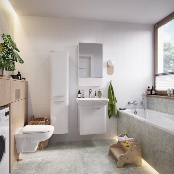Rodzinna łazienka z meblami oraz ceramiką Koło Nova Pro!