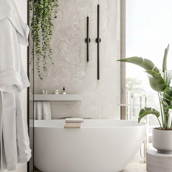 Klimatyczna łazienka z wanną wolnostojącą!